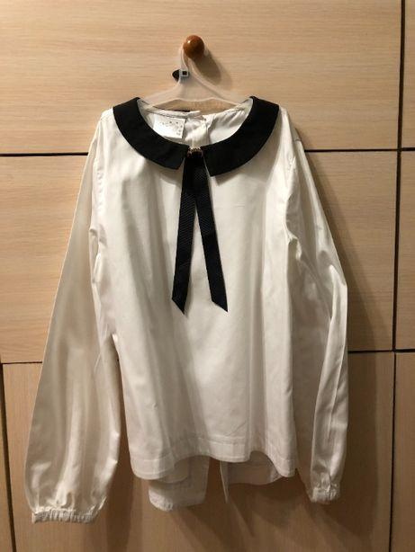 Белая блуза для девочки , нарядная.