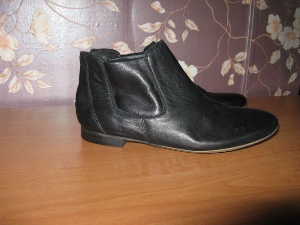 Ботинки челси сапоги meucci кожаные