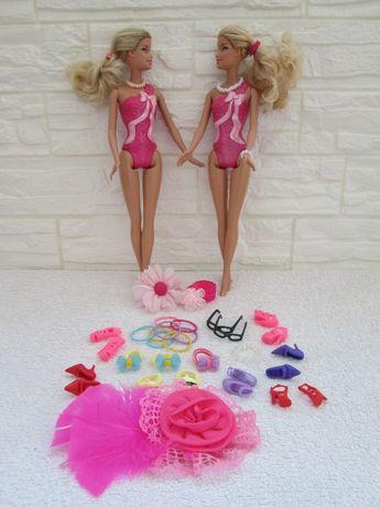Lalki Barbie 2szt*Ubranka*Akcesoria*60szt+ 2szt. Barbie*Oryginalne*