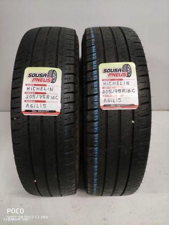 2 pneus semi novos 205/75R16C Michelin- Oferta dos Portes