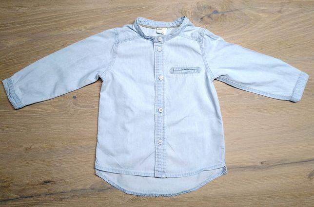 Koszula jeans jeansowa hm h&m rozm. 74