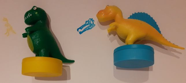 Stempelki z dinozaurami