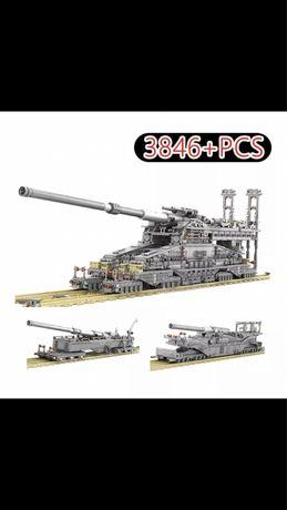 Klocki kompatybilne z Lego Gustaw K5e Dora Niemieckie Działo Kolejowe,