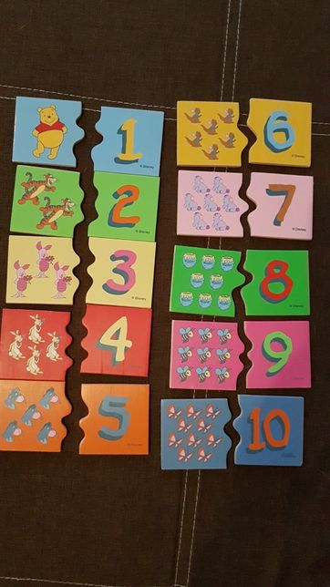 Puzzle drewniane liczby