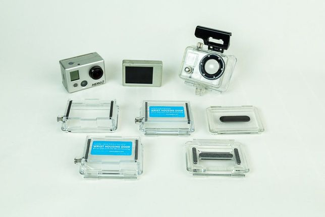 GoPro Hero 2 + Visor LCD + Caixa estanque e acessórios