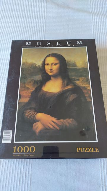 Puzzle 1000 peças Museum Collection Leonardo Da Vinci Mona Lisa - NOVO