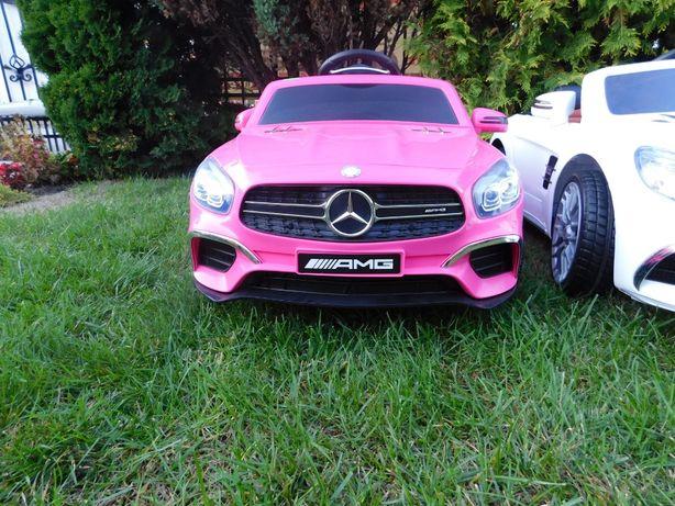 Samochód Mercedes SL 63 na akumulator Auto dla dziecka USB + PILOT+EVA