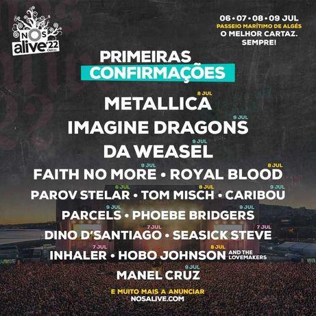 Bilhete Diário NOS Alive'22 - 9 de julho