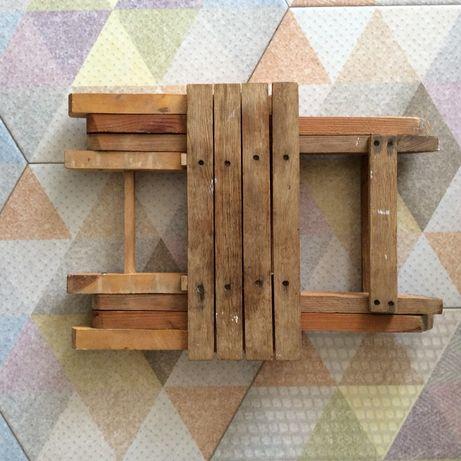 Табурет деревянный стул дачный табурет розкладной маленький стульчик