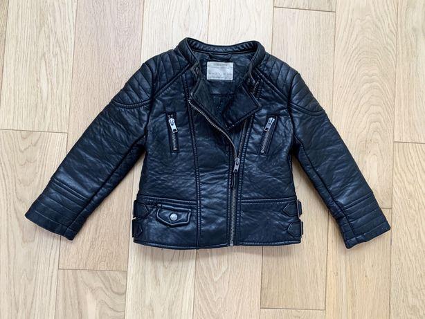 Zara r. 104 skóra kurtka skórzana ramoneska czarna motocyklowa katana