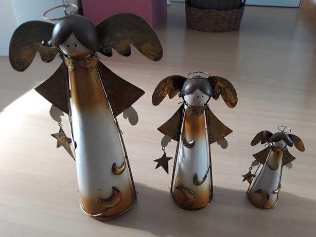 3 anjos em cerâmica