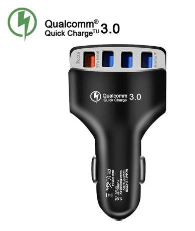 Зарядное устройство в автомобиль, USB адаптер в прикуриватель QC 3.0