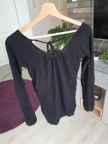 Bluzka czarna dekolt w szpic  Reporter S