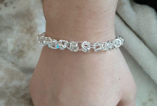 Srebrna bransoletka 925, bardzo ładnie się prezentuje na ręce NOWA
