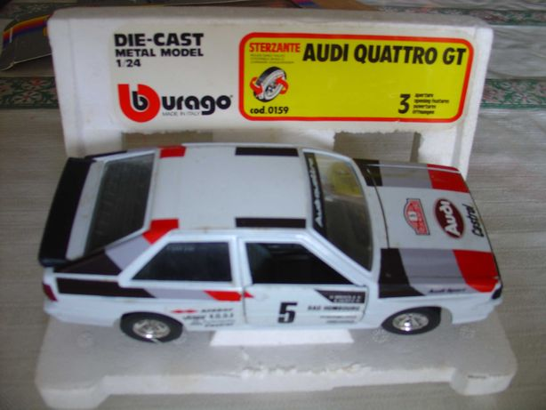 Vendo miniatura de Rally Audi Quattro GT, na escala 1:24, marca Burago
