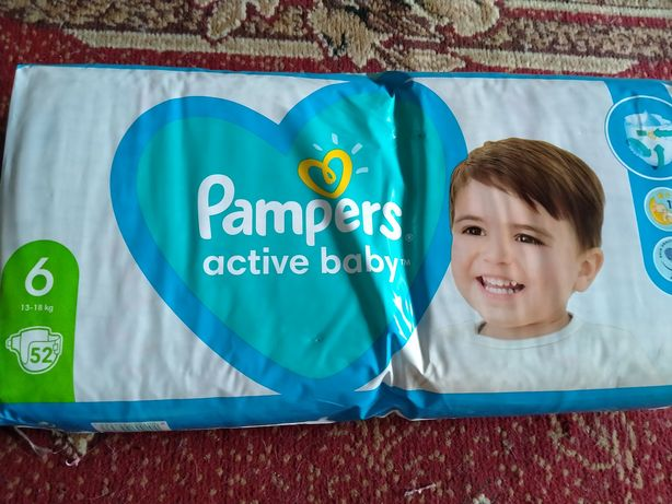 Памперс active baby 6 13-18 кг