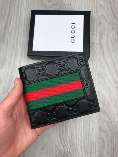 Мужской кожаный кошелек бумажник органайзер Gucci Гуччи Гучи k083