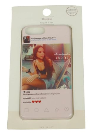 Чехол для Iphone 7 plus Bershka розовый