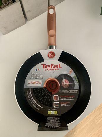 Nowa patelnia Tefal Express 24 cm B25804 non stick nieprzywierająca