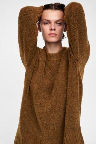 ZARA Sweter musztardowy M/L