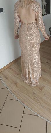 Długa suknia róż chicaca maxi