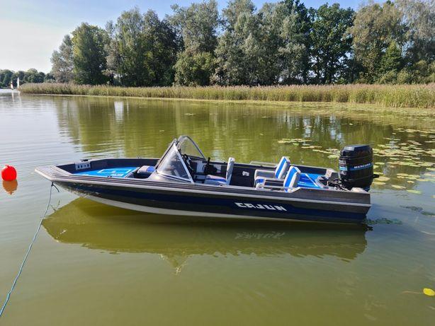 Łódź  motorowa motorówka łódka wędkarska