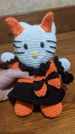 Вязаная мягкая игрушка Амигуруми Hello Kitty Halloween