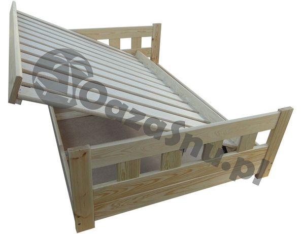 łóżko sypialnia sosnowe otwierane z wysokimi szczytami WENECJA 160x200