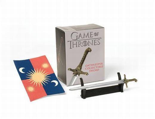 Game of Thrones Guerra dos Tronos - espada Oathkeeper + emblema - NOVO