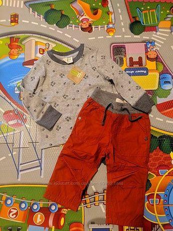 Костюм для маленького модника Crazy 8 брюки и реглан 6-12 месяцев