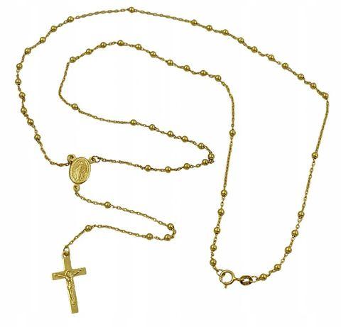 Złoty Naszyjnik RÓŻANIEC pr. 585 GRAWER GRATIS