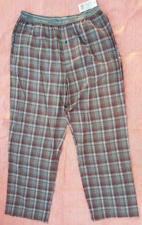 Nowe długie spodnie w kratę Calvin Klein rozmiar XL CK