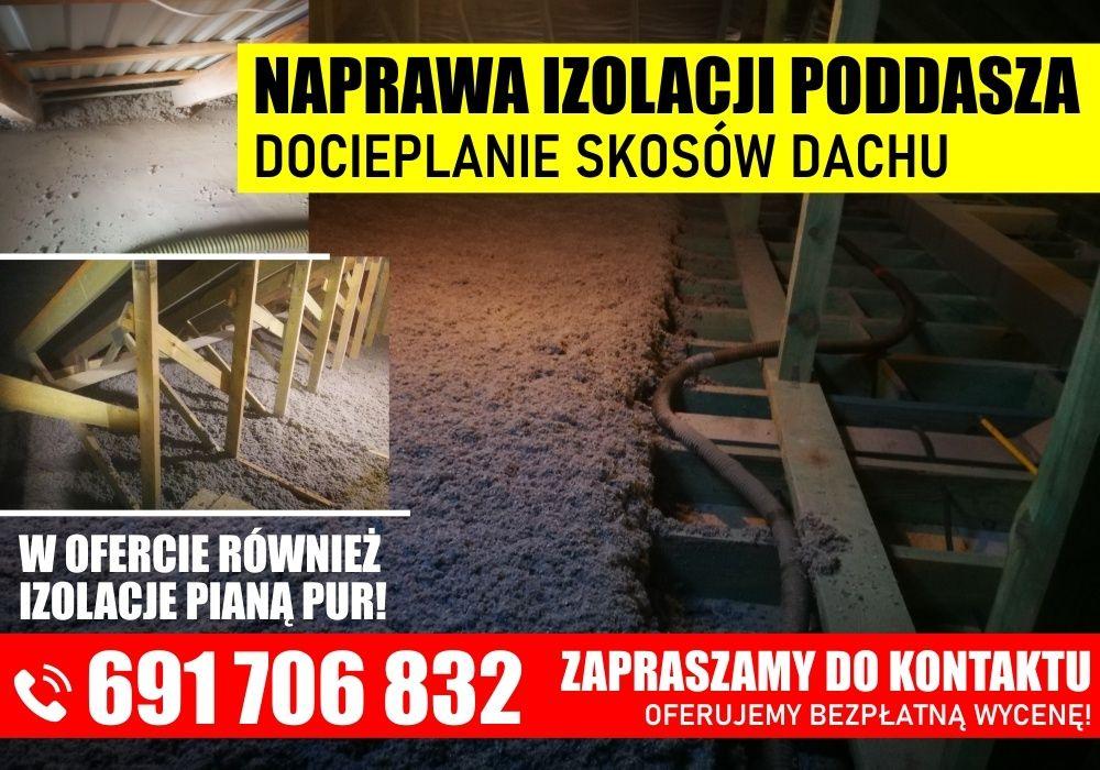Docieplanie Pianką pur Celulozą wełna Ocieplenie poddasza Termowizja Tarnów - image 1