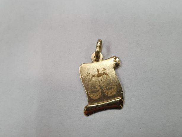 Złoty wisiorek damski / męski/ Znak zodiaku Waga/ 0.9 gram/ 585