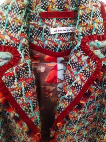 Дизайнерское пальто от ELENA BUREININA