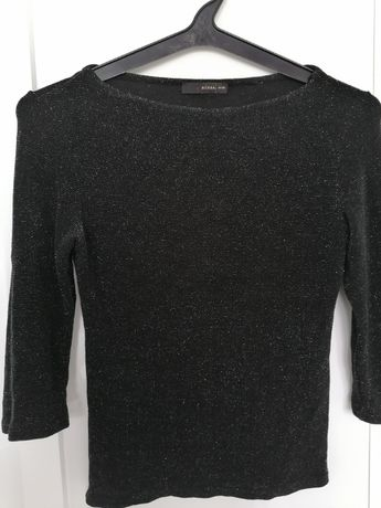 Bluzka czarna ze srebrną nitką rozm M / L