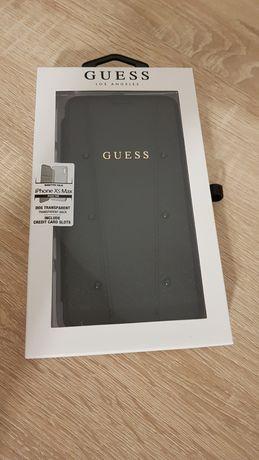 Oryginalne Etui GUESS - Kaia Saffiano Book Iphone XS Max Czarny