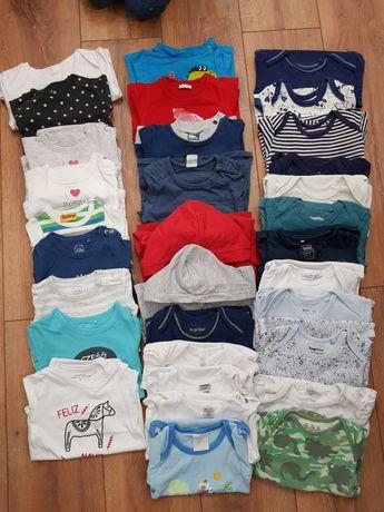 Zestaw rozmiar 74 body bluza bluzki pajace Cool club H&M Lupilu
