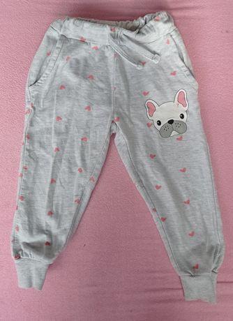 Spodnie dresowe 98  dla dziewczynki