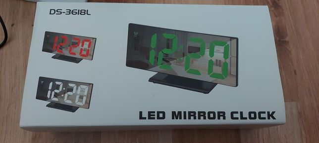 Zegar budzik Data termometr