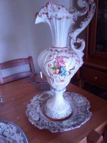 Jarrão e prato decorativo para restaurar
