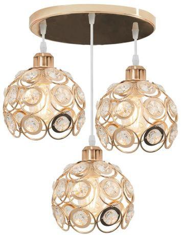 Lampa sufitowa APP211 metal złota kryształ kule