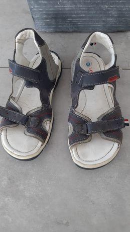 Sandały klapki chłopiec 35 numer Lasocki Young lato skóra