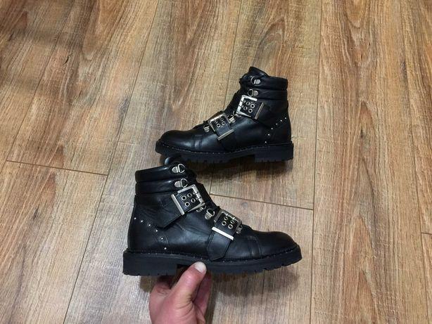 Ботинки полуботинки черевики натуральная кожа HIP Испания р.36(23см)