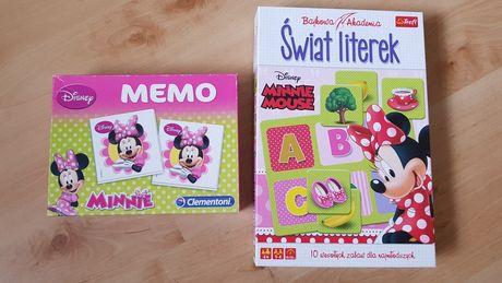 Memo gra Clementoni Świat literek Trefl Myszka Minnie