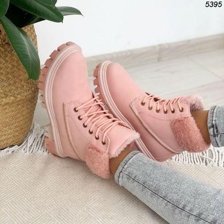 Ботинки женские розовые