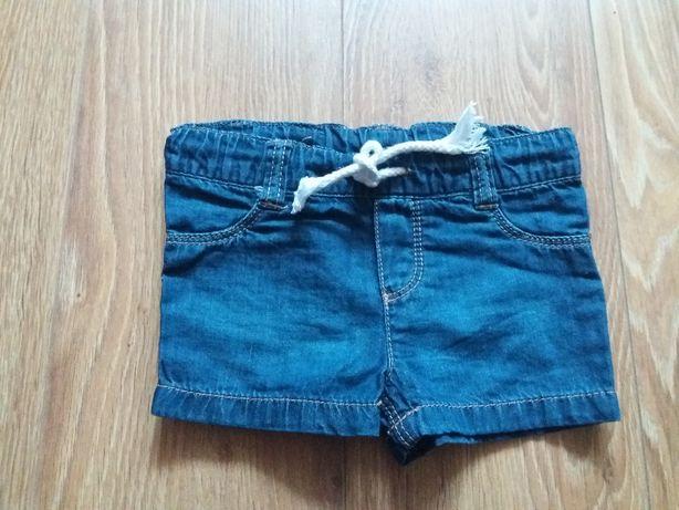 krótkie spodenki,szorty jeansowe r.62