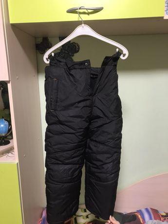 лыжные зимние штаны на мальчика 5-8 лет