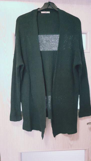 Kardigan blezer sweterek narzutka butelkowa zieleń Pull& Bear M L Xl
