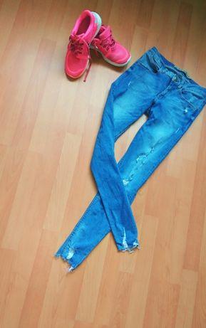 Крутые рваные джинсы низ бохромой